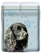 American Water Spaniel Duvet Cover