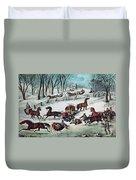 American Winter 1870 Duvet Cover