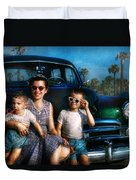 Americana - Car - The Classic American Vacation Duvet Cover