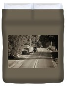 Amish Buggy - Lancaster County Pa Duvet Cover