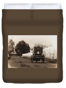 Amish Buggy And Wagon Duvet Cover
