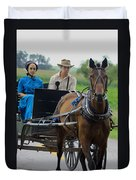 Amish Buggy Ride Duvet Cover