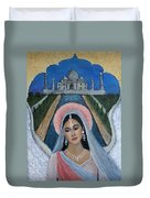 Amishi An Earth Angel Representing A Young Bride On Her Wedding Day Duvet Cover