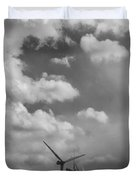 Amongst The Clouds Bw Duvet Cover