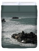 Amphibious Assault Vehicles Transit Duvet Cover