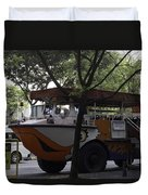 Amphibious Vehicle Used For Ducktour In Singapore Duvet Cover