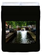 Amsterdam By Boat Duvet Cover