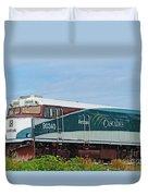 Amtraks Cascade Engine Duvet Cover