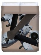 An A-10 Thunderbolt II Receives Fuel Duvet Cover