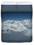 An Aerial View Of Mount Vinson Duvet Cover