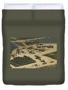 An Aerial View Of The White Beach Duvet Cover