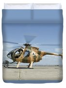 An Afghan Air Force Md-530f Helicopter Duvet Cover