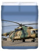 An Afghan Air Force Mi-17 Helicopter Duvet Cover