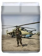 An Afghan Army Soldier Guards A Couple Duvet Cover