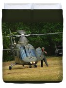 An Agusta A109 Helicopter Duvet Cover