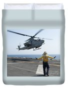 An Ah-1z Cobra Helicopter Takes Duvet Cover
