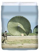 An Air Delivery Of Humanitarian Aid Duvet Cover