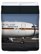 An Airbus 340 Acting As Air Force One Duvet Cover