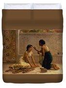 An Ancient Custom Duvet Cover by Edwin Longsden Long