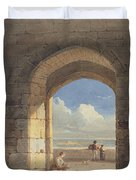 An Arch At Holy Island - Northumberland Duvet Cover