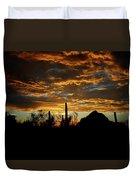 An Arizona Desert Sunset  Duvet Cover