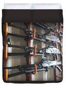 An Armory Of Pk Machine Guns Designed Duvet Cover