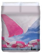 An Arrangement Of Pink And White Beach Duvet Cover