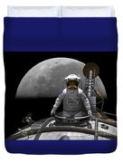 An Astronaut Takes A Last Look At Earth Duvet Cover