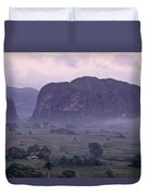 An Early Morning Landscape In Cubas Duvet Cover