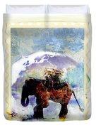 An Elephant Carrying Cargo Duvet Cover