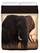 An Elephant In The Okavango Delta Duvet Cover