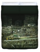 An Elevated View Of Ground Zeros Duvet Cover