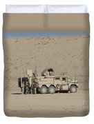 An Eod Cougar Mrap In A Wadi Duvet Cover