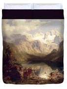 An Extensive Alpine Lake Landscape Duvet Cover