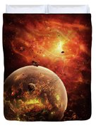 An Eye-shaped Nebula And Ring Duvet Cover