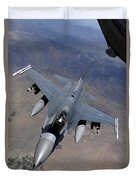 An F-16 Fighting Falcon Returns Duvet Cover