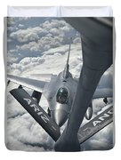 An F-16 From Colorado Air National Duvet Cover
