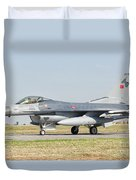 An F-16c Block 50 Of The Turkish Air Duvet Cover