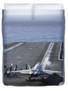 An Fa-18d Hornet Launches Duvet Cover