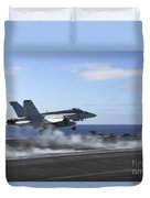 An Fa-18e Super Hornet Catapults Duvet Cover