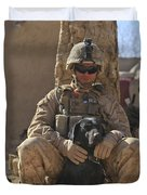 An Ied Detection Dog Keeps His Dog Duvet Cover