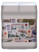 An Image Of Chinas Colorful Paper Money Duvet Cover