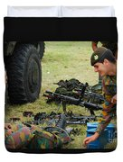 An Infantry Unit Of The Belgian Army Duvet Cover by Luc De Jaeger