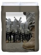 An Instructor Stands Face-to-face Duvet Cover by Stocktrek Images