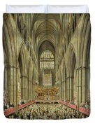 An Interior View Of Westminster Abbey On The Commemoration Of Handel's Centenary Duvet Cover