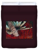 An Invasive Indo-pacific Lionfish Duvet Cover