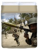 An Iraqi Army Soldier Provides Security Duvet Cover by Stocktrek Images