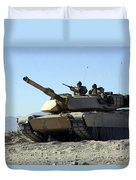 An M1a1 Main Battle Tank Duvet Cover