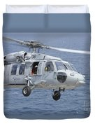An Mh-60s Sea Hawk Search And Rescue Duvet Cover