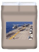 An Mh-60s Seahawk Helicopter Prepares Duvet Cover
